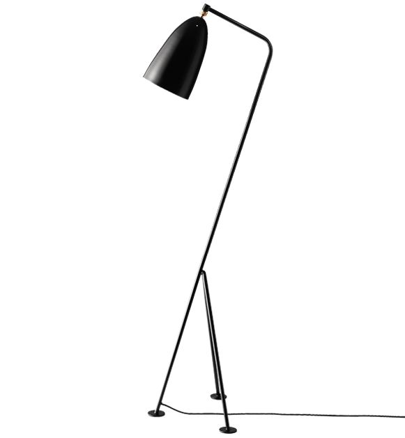 The most iconic products Greta Grossman designed in the 40's and  50's were the Gräshoppa floor lamp. By GUBI  #Danish Design #Scandinavian Design
