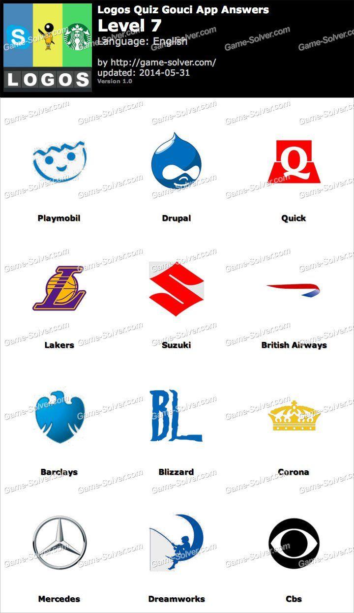 Logos Quiz Gouci App Level 7 Logo quiz, Logo quiz