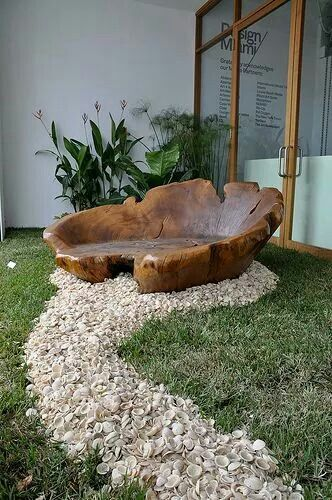 natural wood chair
