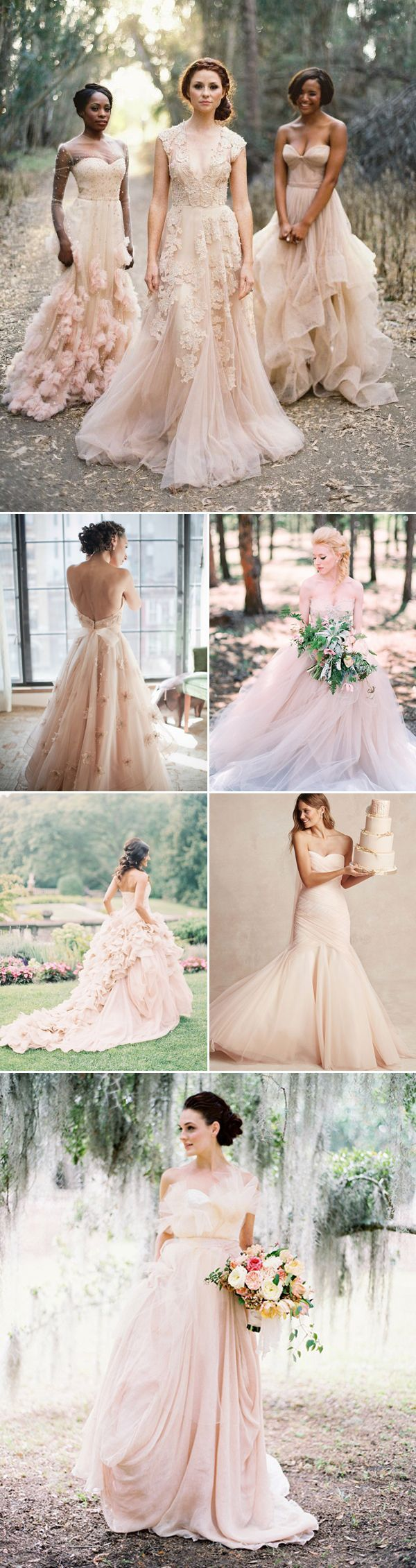 20 Utterly Romantic Blush Wedding Dresses - Whimsical