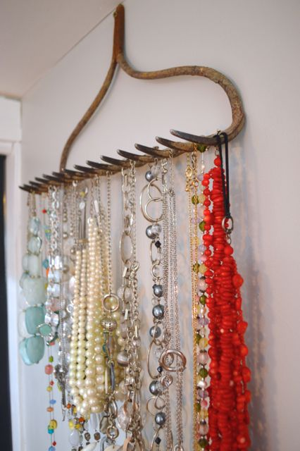 Upcycled Rake Jewelry Holder