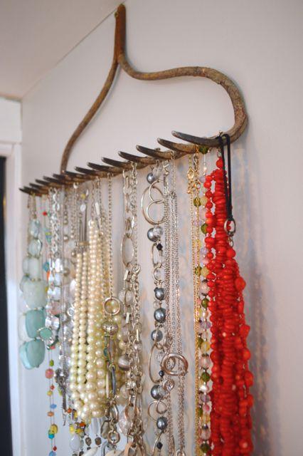 Upcycled Rake Jewelry Holder