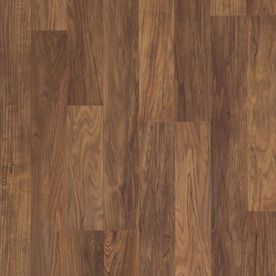 Style Selections 8.05-in W x 3.97-ft L Natural Walnut Smooth Laminate Wood Planks
