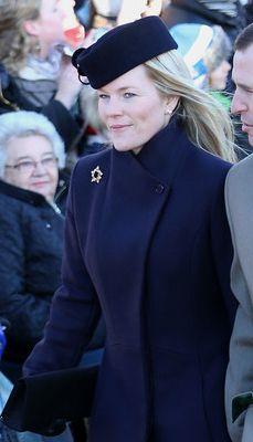 Autumn Phillips, December 25, 2013 | The Royal Hats Blog