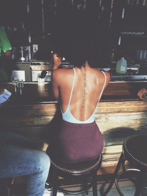 Image result for back tattoos on black skin on We Heart It | Körper ...