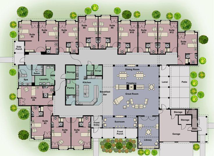 178 best Hospice design images on Pinterest | Hospice, Floor plans ...