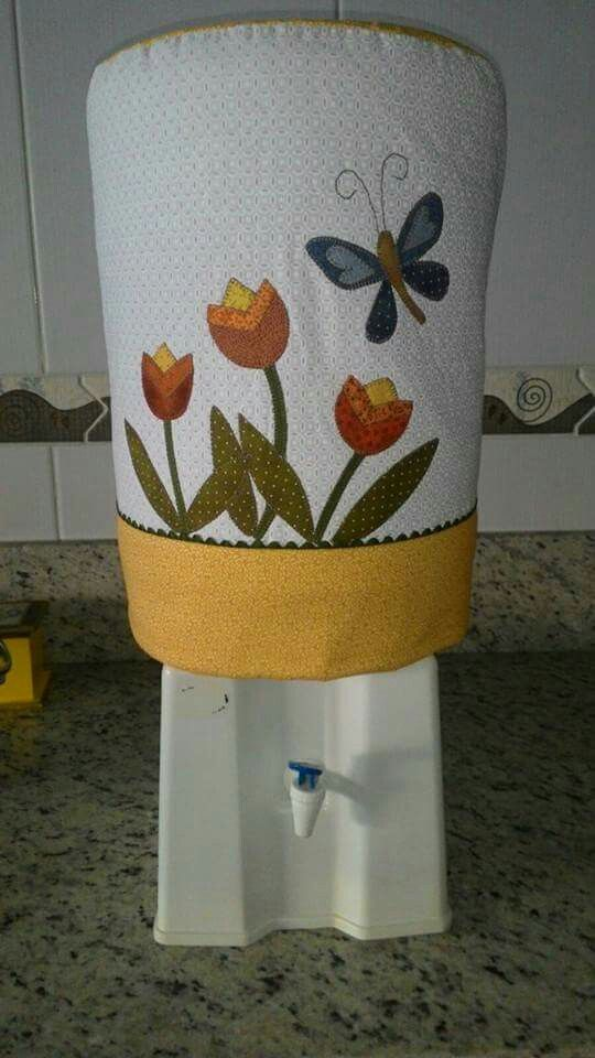 Capa galão de água tulipas