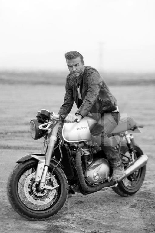 David Beckham and the 2016 1100cc Triumph Bonneville | MCN