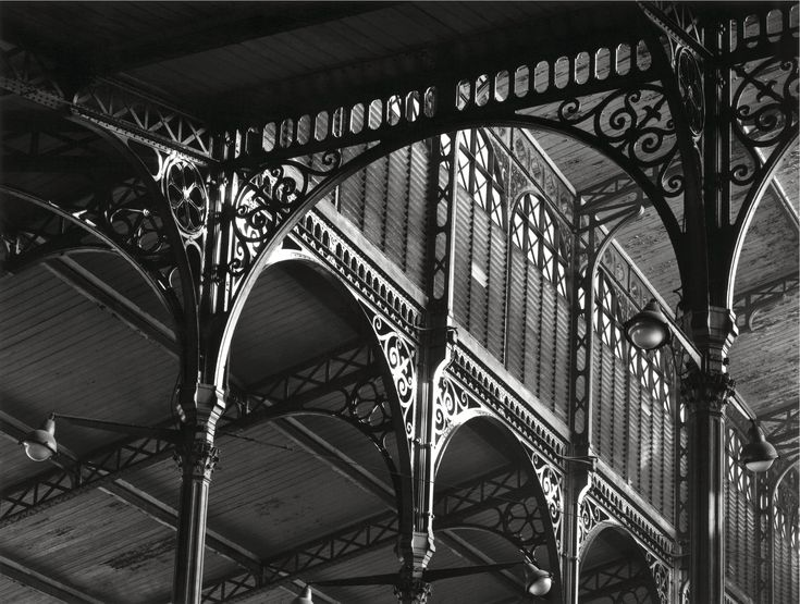19TH CENTURY, Engineering Architecture, France - Victor Baltard (1805-1874): deail, Les Halles Centrales, with vast pavilions of cast iron and glass, (dem. in 1973), Paris