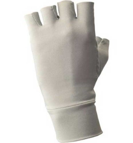 Warmers Half-Finger Sun Gloves, Size: Small, Silver