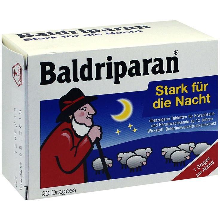 BALDRIPARAN Stark für die Nacht überzogene Tab:   Packungsinhalt: 90 St Überzogene Tabletten PZN: 00215657 Hersteller: Pfizer Consumer…