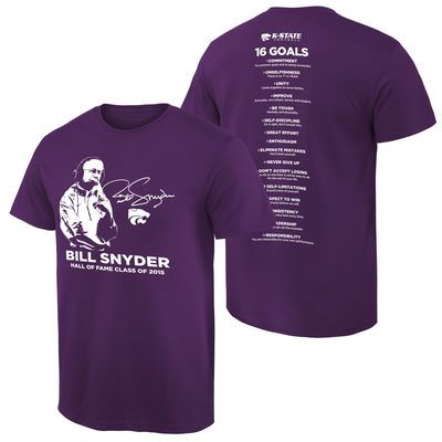 Kansas State Wildcats Purple Coach Bill Snyder Stripe the Stadium T-Shirt