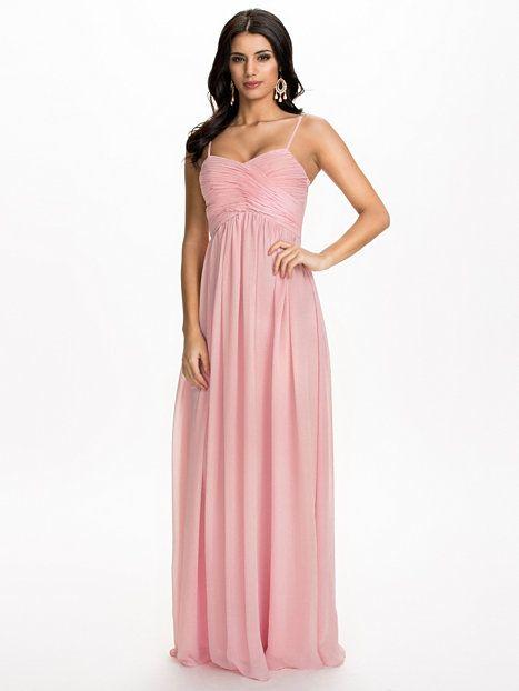 Wrap Bust Long Dress - Nly Eve - Roze - Feestjurken - Kleding - Vrouw - Nelly.com
