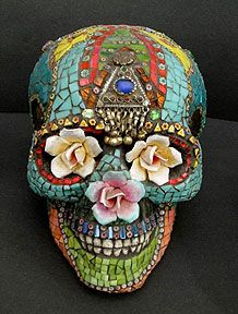 Day of the Dead Mosaics By Laurel Skye. A modern day representation of the Mexican cultural art of celebrating the dead.