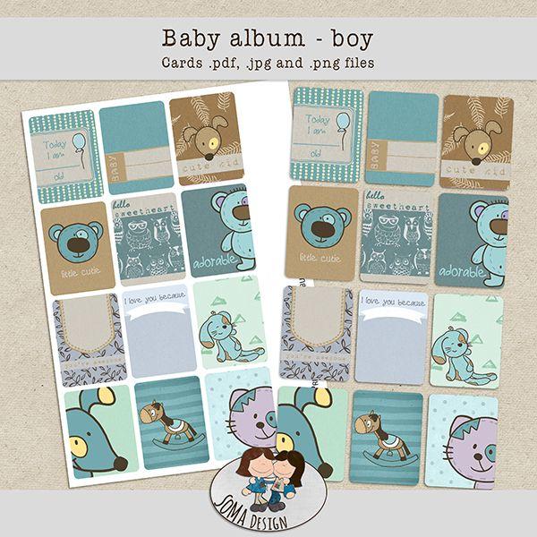 SoMa Design: Baby Album - Boy - Cards
