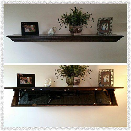 Covert Cabinets SG 58 Wall Shelf With Hidden Storage Espresso (Maple)