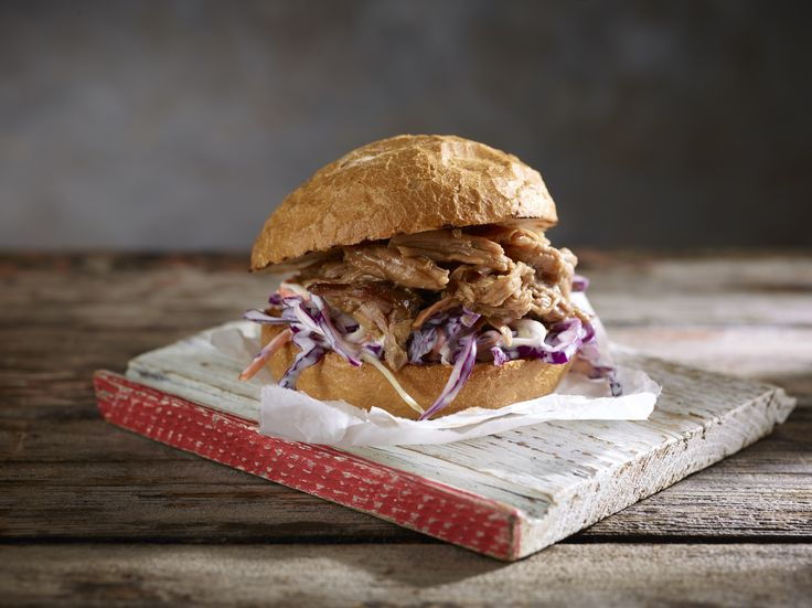 BBQ Pulled Pork Rolls with Asian Slaw