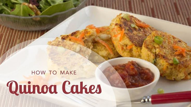 Crispy Quinoa Cakes (Healthy Vegetarian Dinner Recipe)