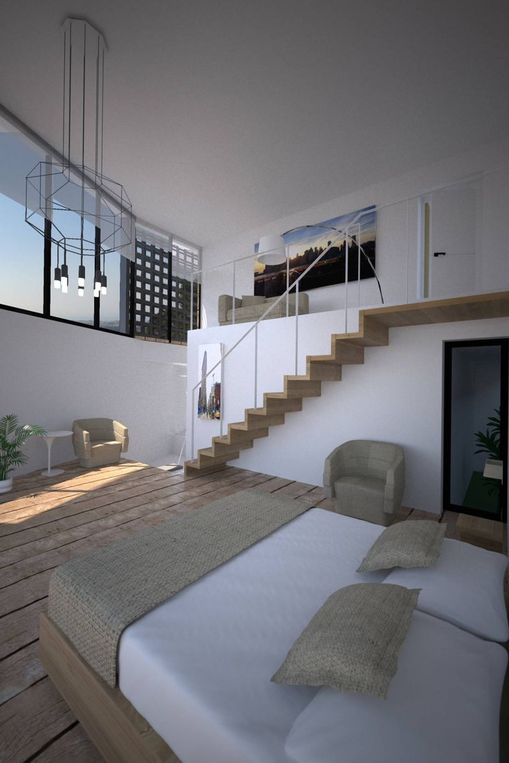 두 층이 만나 하나의 공간을 연출하는 복층 인테리어  아름다운 ...