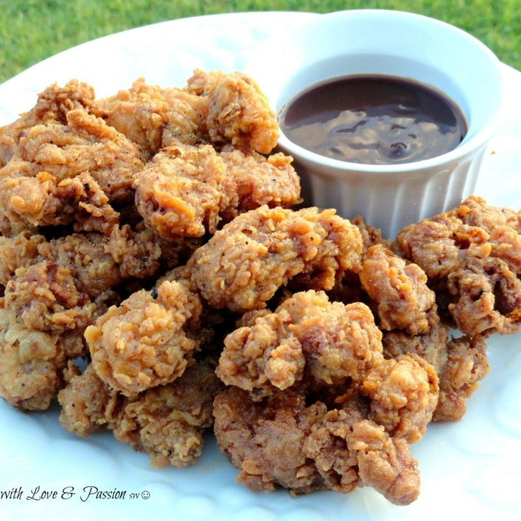 We southern girls & guys just love us some fried chicken gizzards.   This is just plain goodness. Enjoy these crunchy, smokey & tasty bites of the south.