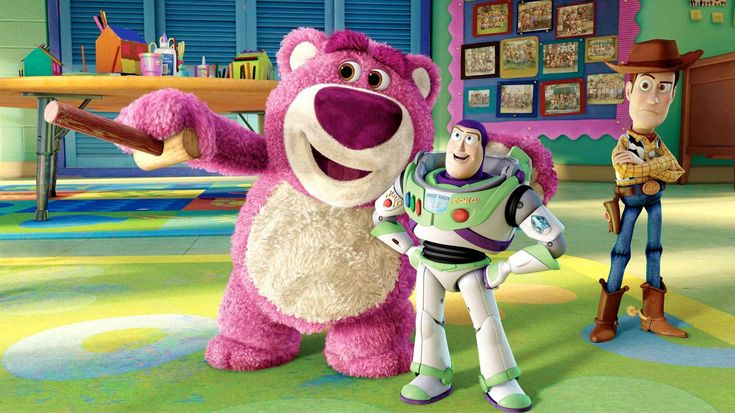 Buzz, Woody and Lotso, from Toy Story 3