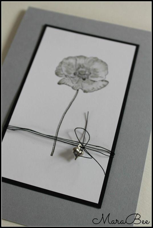 Trauerkarte mit Herz