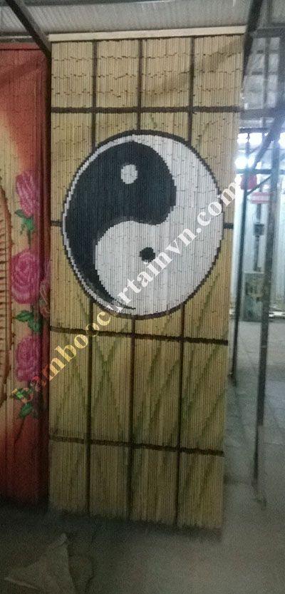 Home decorative wall art Yin and Yang bamboo beaded curtain