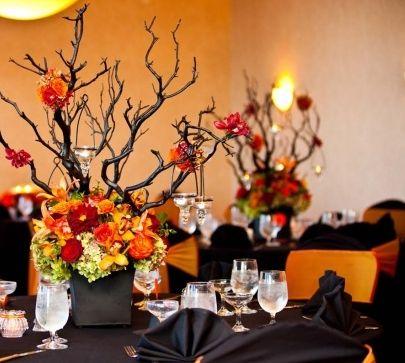 fall, halloween, wedding