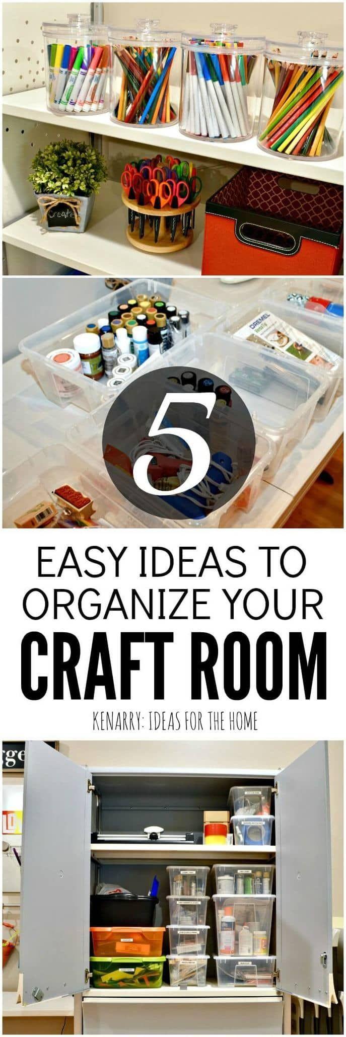 Is uw ambachtelijke kamer buiten controle? Deze eenvoudige en creatieve ideeën voor ambachtelijke kamerorganisatie helpen u deze week de chaos aan te pakken!