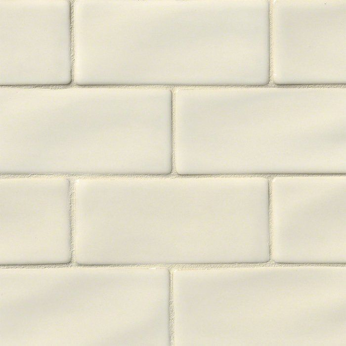 Handcrafted 3 X 6 Ceramic Subway Tile In Antique White Kitchen