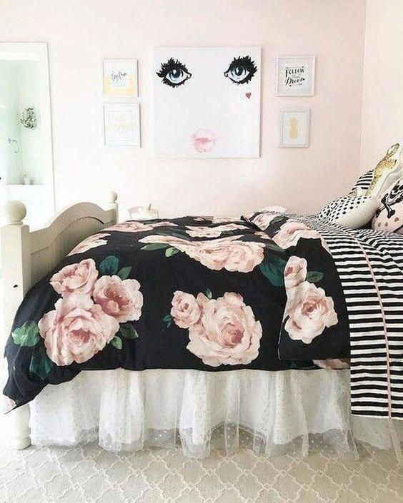 pink bedroom cute bedroom Shabby chic bedroom for girl bedroom for women pink bedroom rose #Shabbychicfurniture #pinkbedroomforwomen #pinkbedroomforki…