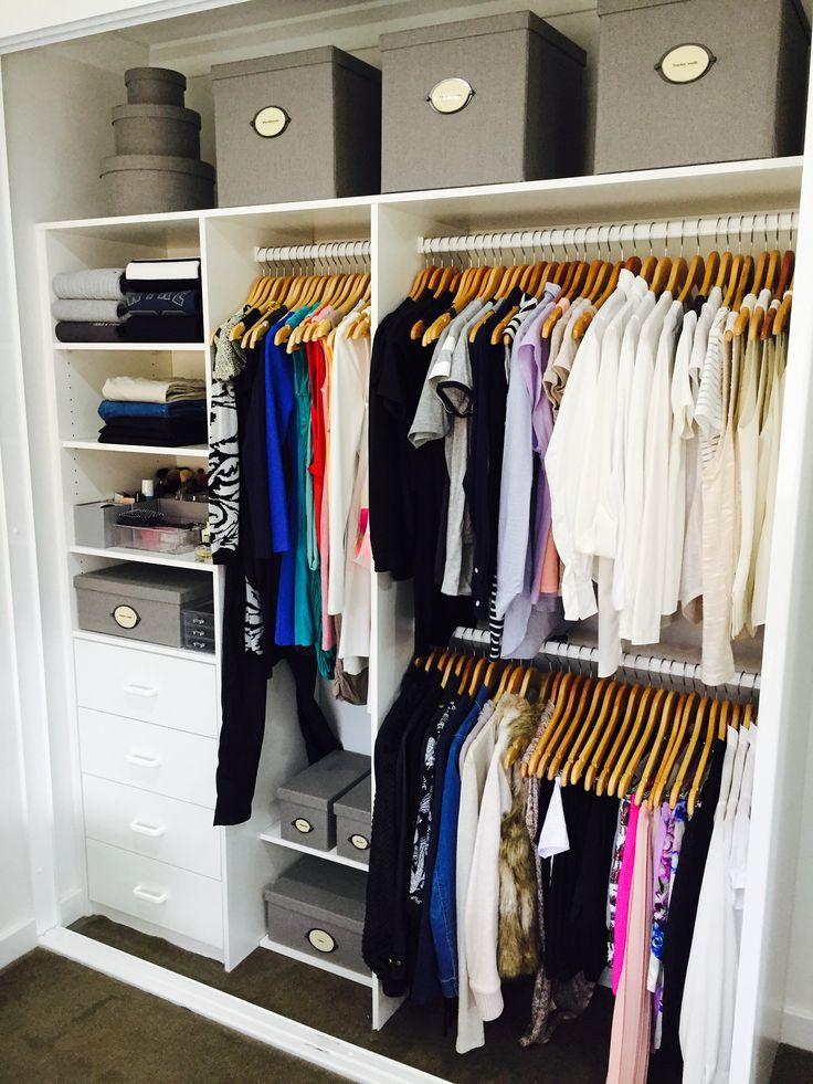 Teenage Girls walk in wardrobe closet, Organised & Styled by us. Inthecloset_styling #organiseyourkids #creatingspace #stylingwardrobes
