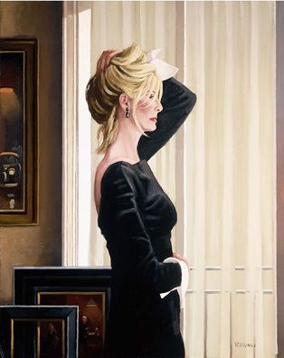 Black On Blonde has been released by Jack Vettriano as a limited edition print, part of the Contemplation Series