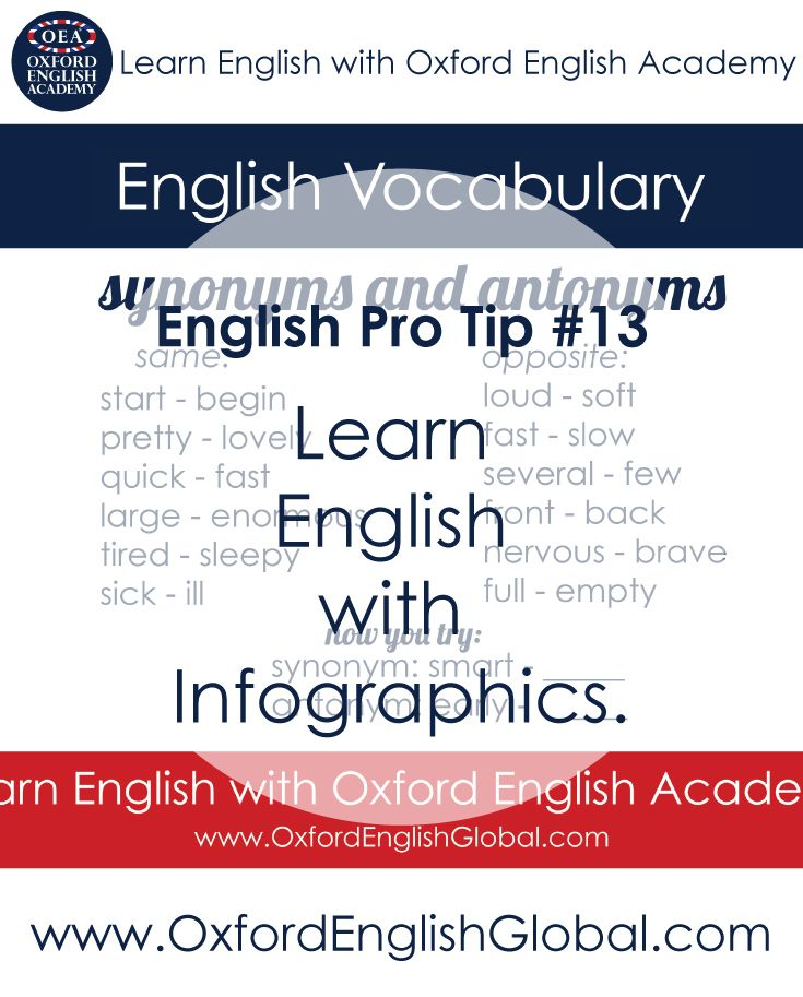 Infographics present English grammar and vocabulary in a visual way. This is very useful for people who are visual learners and can also simplify complex English elements so that they can easily be learnt. Click VISIT for more English learning hints and tips from the Oxford English Academy blog.  #oxfordenglishacademy #learnenglish #englishschool #englishcourse #learnenglishcapetown