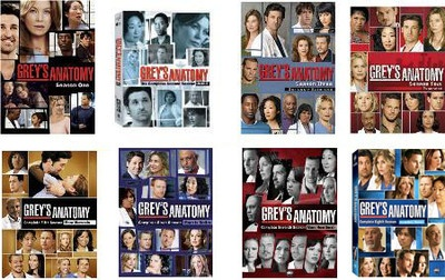 Grey's Anatomy Seasons 1-8 DVD Set Season 1 2 3 4 5 6 7 8 Collection 2012