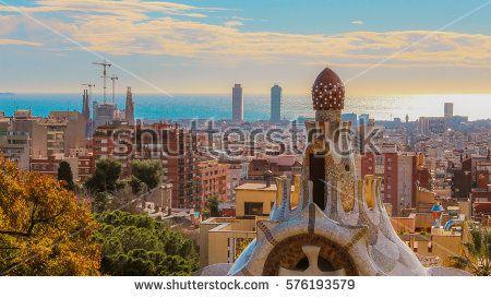 Beautiful Panorama in Barcelona February 2017