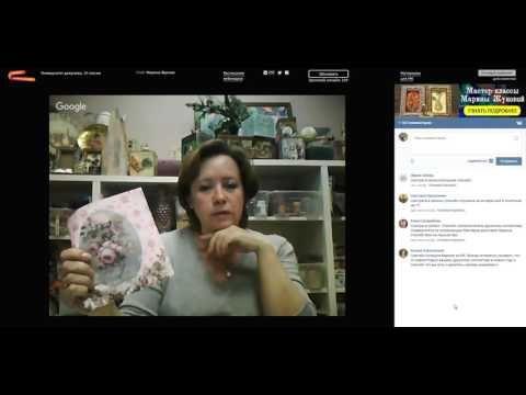 Декупаж ключницы  МК Марины Жуковой - YouTube