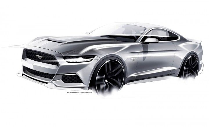 Ford Mustang Design Sketch by Kemal Curic - Car Body Design