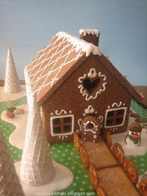 """¡Lo que ha costado """"parir"""" esta entrada! Hace un tiempomi amiga patt y yo decidimos hacer una casita de galleta de jengibre cada unay p..."""