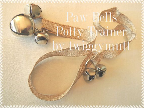 Paw Bells, Dog Potty Trainer, In Natural Jute, Instructions Included