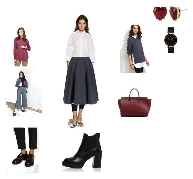 """работа и боулинг"" by bochka on Polyvore featuring мода, Uniqlo, CLUSE и Betsey Johnson"