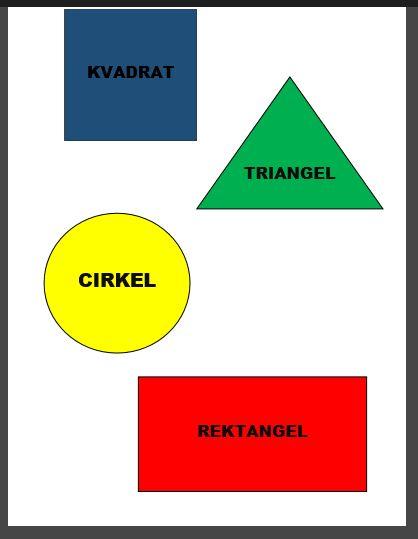 4 geometriska figurer