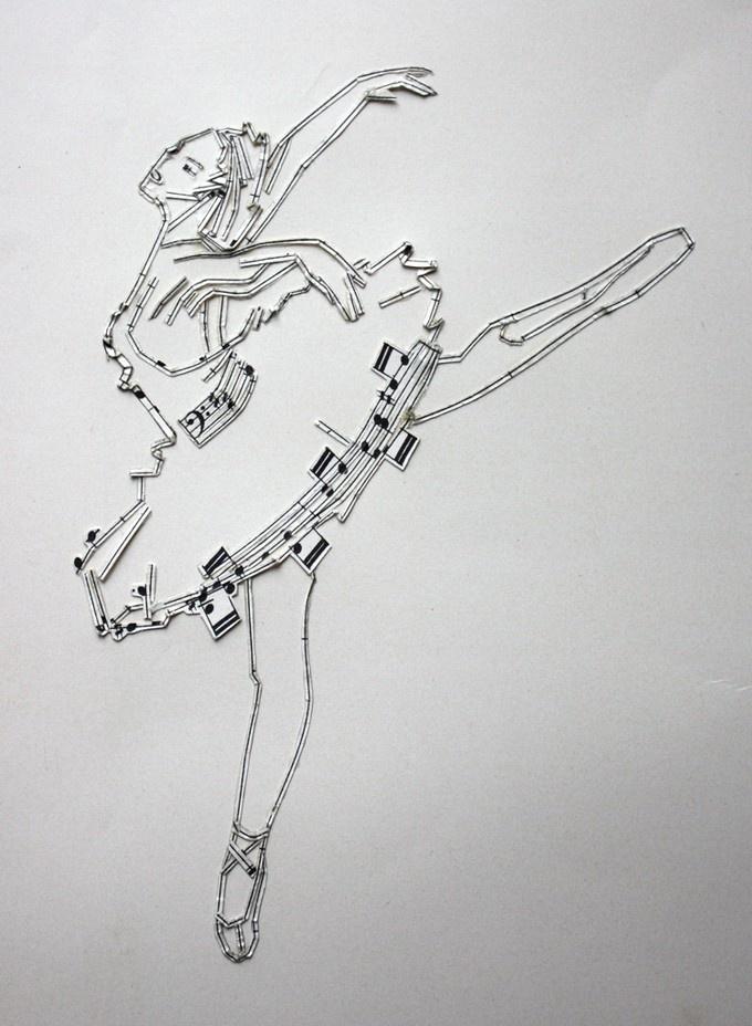 arte sendo feita com arte representando outra arte. por Erika Iris
