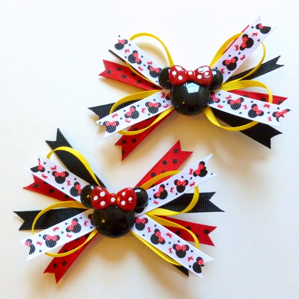 Minnie Mouse Spikey Hair Clip Tutorial!! My Favorite!!