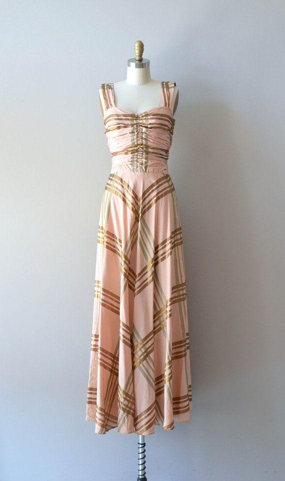 Botelet House dress vintage 1930s dress 30s maxi by DearGolden