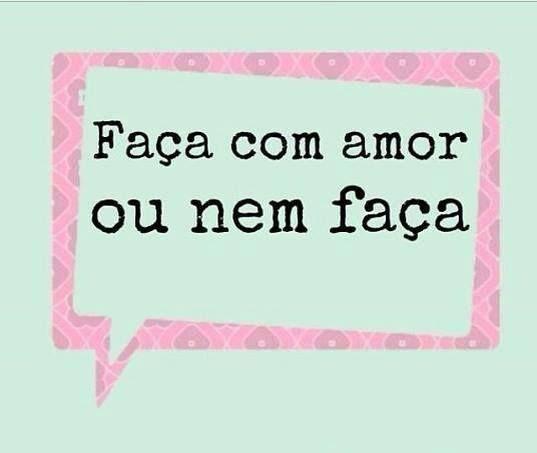 Mais amor, por favor!