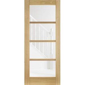 OAK OSLO 4L glazed PREFINISHED DOOR | eBay