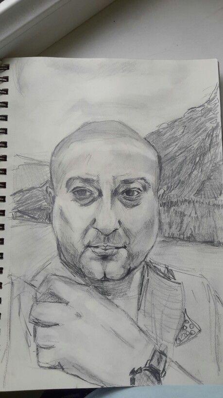 Pencil, sketch,  man, карандашный,  портрет, мужчина, jaconda of nowadays