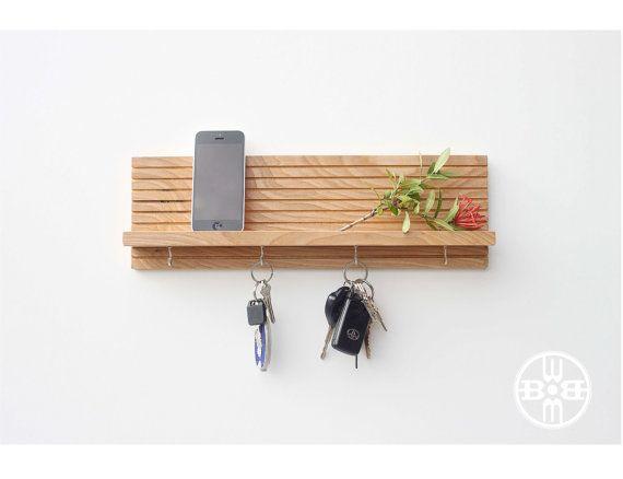 Key Spa Key Holder with Shelf from WoodButcherdesigsn on Etsy  https://www.etsy.com/listing/266976931/key-spa-key-holder-wshelf-jewelry-rack?ref=shop_home_active_10