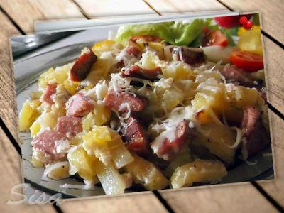 Hrnčekové recepty: Skladané zemiaky.
